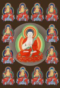 12 Lichter-Buddha40x50