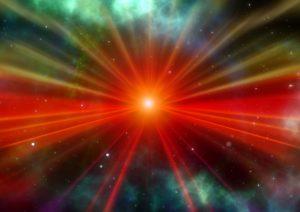 Sonne-Universum-bunt